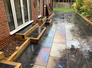 Landscape patio paved