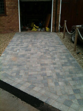 Slabbed and paved driveay in romsley