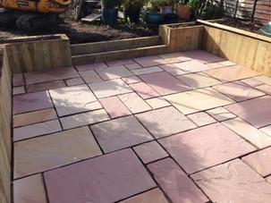Natural sandstone paving alvechurch