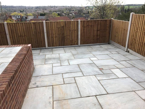Natural limestone slabs for patio in selly oak