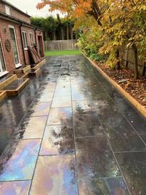 Slate patio in belbroughton paving