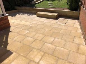 Granite paving slabs for patio in Halesowen