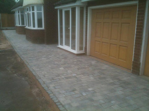 Slabbed and paved driveway patio in selly oak