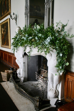Lush foliage mantle for Gosford House