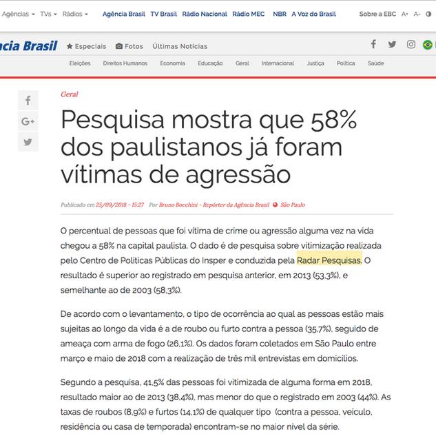 Radar Pesquisas na Agência Brasil 2018