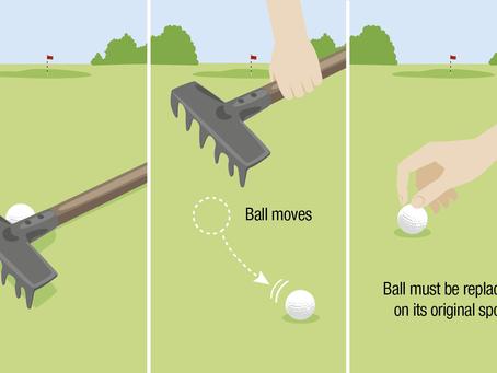 Bal beweegt na wegnemen rakel
