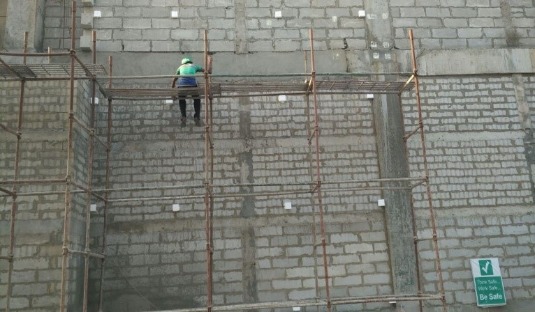 Filling gaps in the facade with EPS- Reliable Building Solutions, India