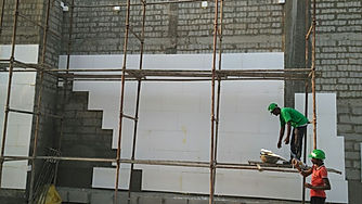 Fixing of insulation of differing thickness.jpg
