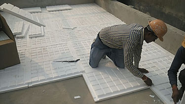Insulation laying on flat roof.jpg