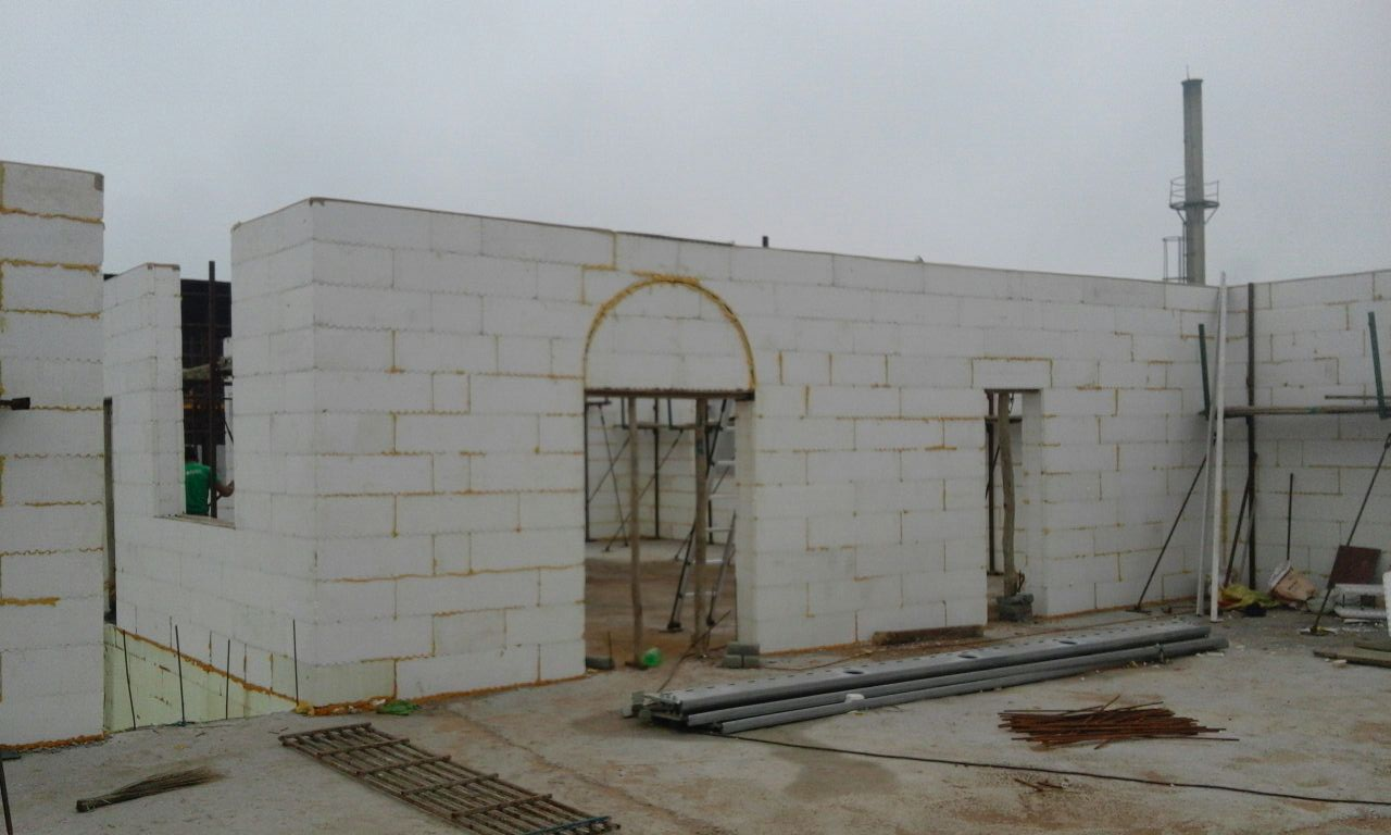 arch creation in ICF building