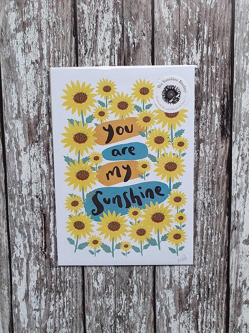 'You Are My Sunshine' print - The Sunshine Bindery