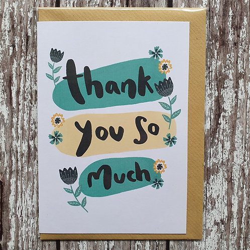 'Thank You So Much' card - The Sunshine Bindery