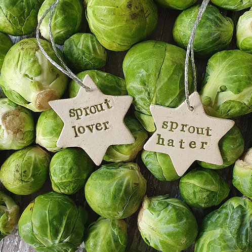 Sprout Christmas decoration - Pippa Flack
