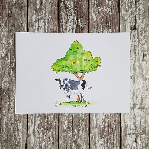 Somerset wildlife cow print – Alex T Sykes