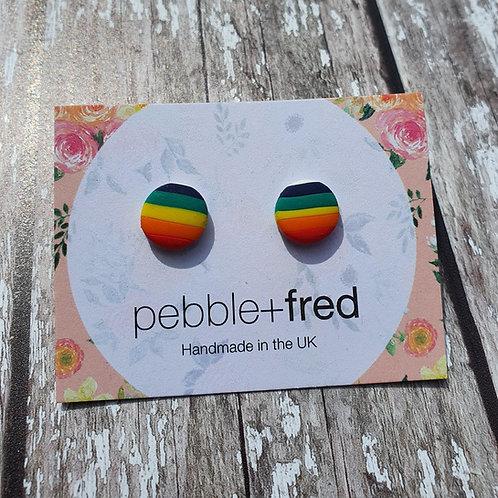 Rainbow studs - Pebble & Fred