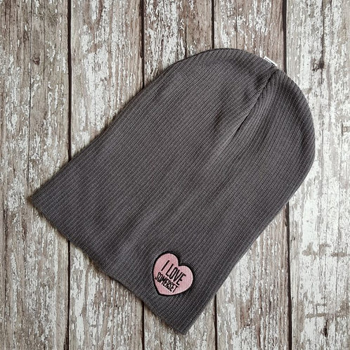 'I Love Somerset' slouch beanie hat