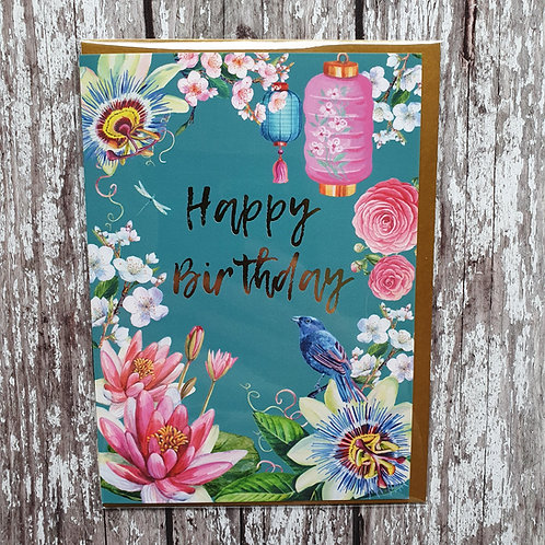 'Happy Birthday' card - Rocket 68