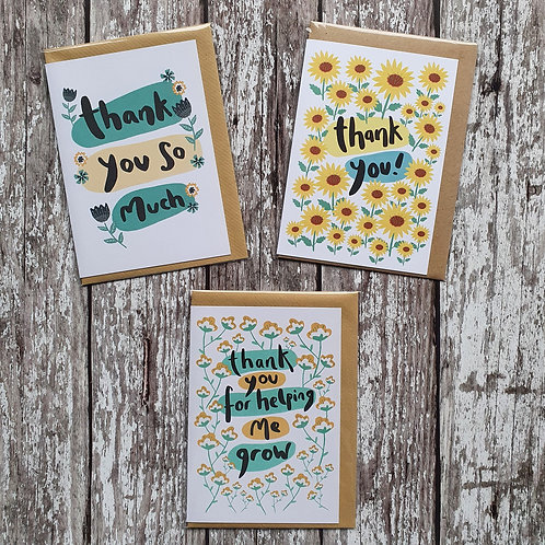 'Thank You' cards - The Sunshine Bindery
