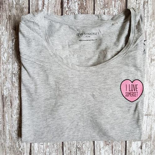 'I Love Somerset' womens' t-shirt