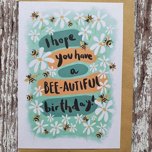 'Bee-autiful Birthday' card - The Sunshine Bindery