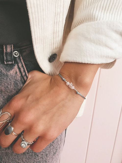 Rose Quartz friendship bracelet - Geminite