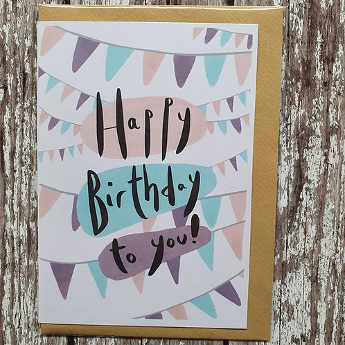 'Happy Birthday to You' card - The Sunshine Bindery