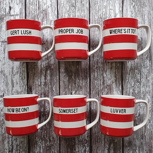 Red mugs - Cornishware