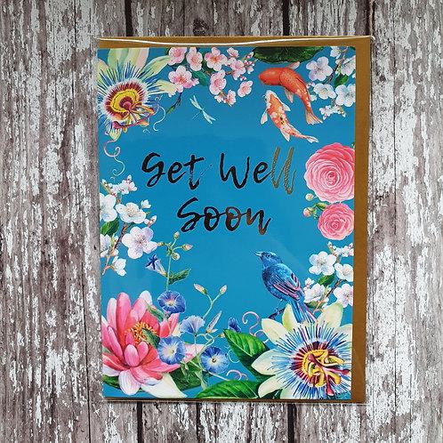 'Get Well Soon' card - Rocket 68