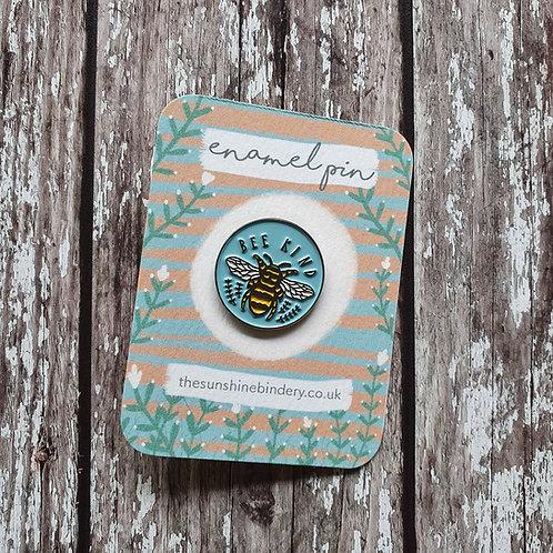 'Bee Kind' enamel pin - The Sunshine Bindery