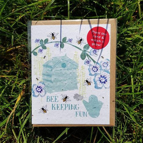 Bee Keeping Fun wildflower seed card