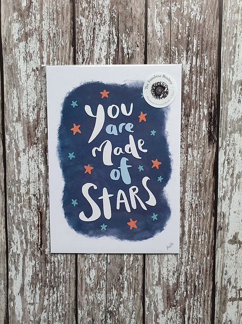 'You Are Made of Stars' print - The Sunshine Bindery