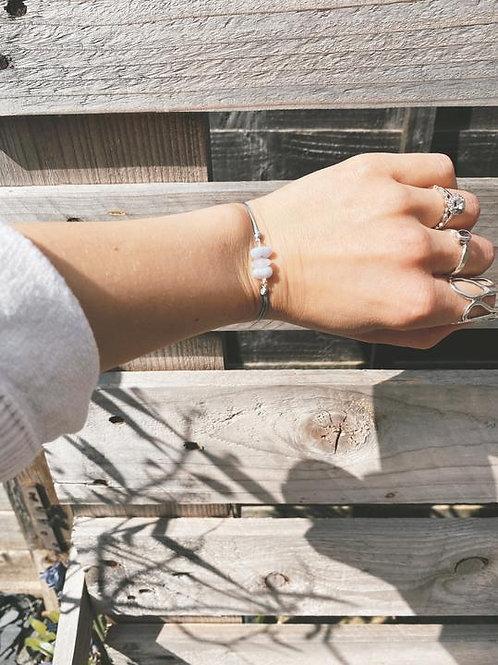 Blue Lace Agate friendship bracelet - Geminite