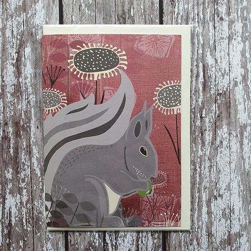 Squirrel greeting card - Rocket 68