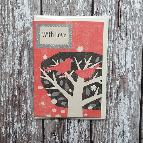 'With Love' card - Rocket 68