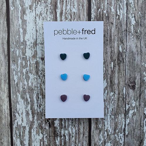 Blues mini hearts multipack - Pebble & Fred