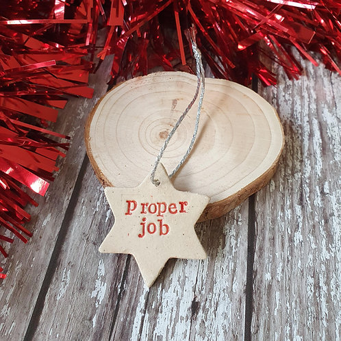 Proper Job Christmas decoration - Pippa Flack