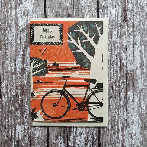 'Bike in the Park' birthday card - Rocket 68