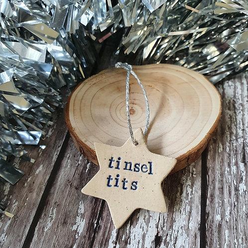 Tinsel Tits Christmas decoration - Pippa Flack