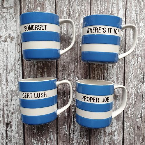 Blue mugs - Cornishware