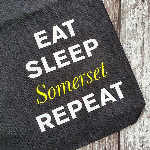 'Eat, Sleep, Somerset, Repeat' tote bag