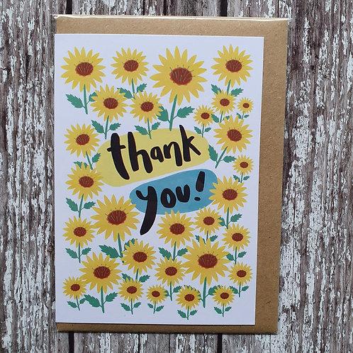 'Thank You' card - The Sunshine Bindery
