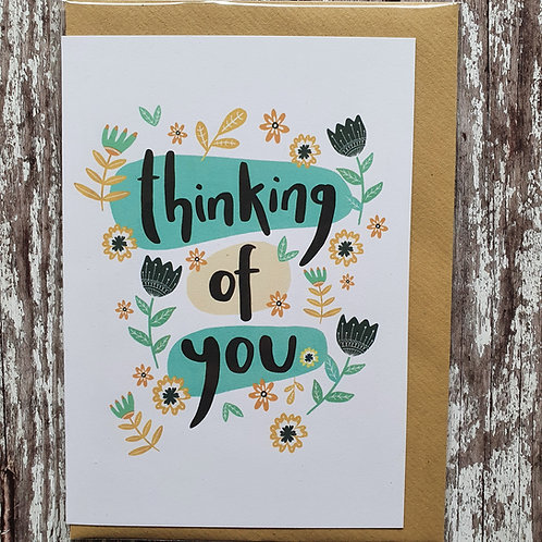 'Thinking of You' card - The Sunshine Bindery