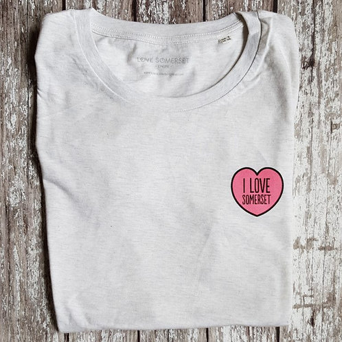 'I Love Somerset' unisex t-shirt
