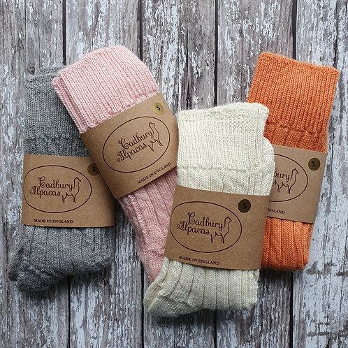 Alpaca Bed Socks - Cadbury Alpacas