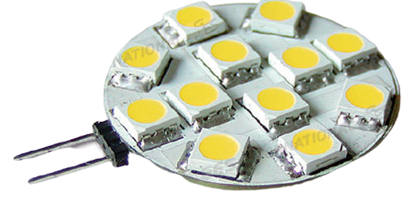 Lampadina G4 12 Led luce calda