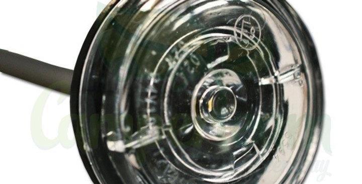 Fanale ingombro tondo bianco a LED Ø38mm