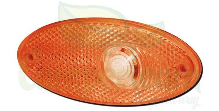 Fanalino ingombro ovale laterale arancione