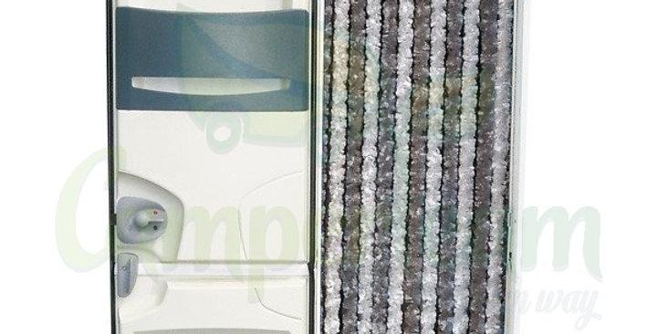 Tenda in ciniglia bianco/grigio 185 x56