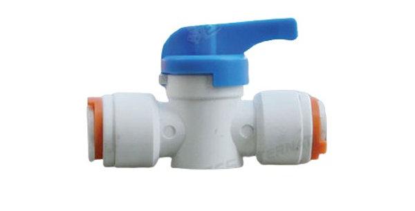 Raccordo dritto Ø 12 mm con rubinetto