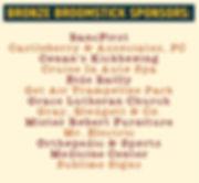 Bronze Broomstick Sponsors, facebook pos